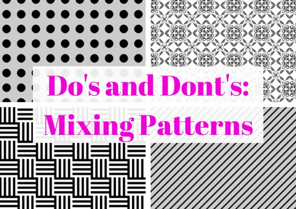 Because patterns are often strong and dominant in a space. When mix and matching  patterns